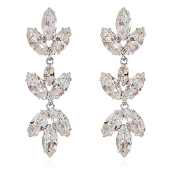 Tekla Earrings / Crystal Rhodium
