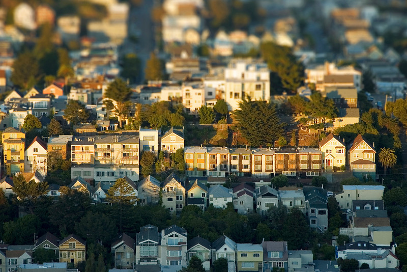 miniature san franciscan houses