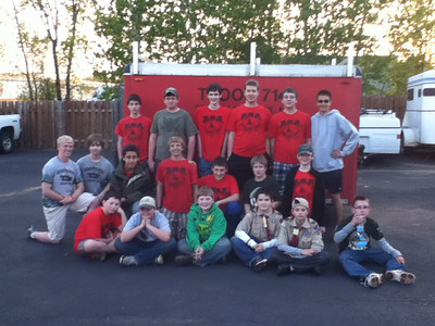 Troop Trailer CleanUp - April 30, 2012