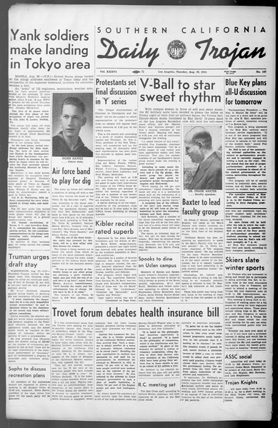 Daily Trojan, Vol. 36, No. 187, August 28, 1945