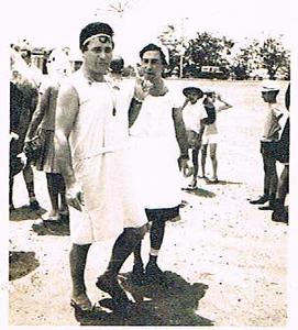 Andrada 1967 nos campos de jogos em frente as Oficinas Tomaz, Miguel Martins