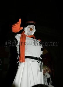 Frosty the Snowman gave an appearance at the switching of the Christmas lights in Newry on Thursday last. 06W48N14