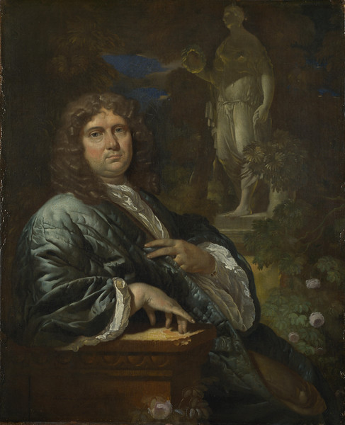 Portrait of a Man in a Quilted Gown