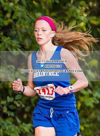10/4/2017 - Girls Varsity Cross Country - Needham, Walpole, Braintree