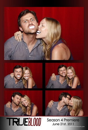 HBO True Blood Season 4 Premiere Party - Red Room Photo Booth