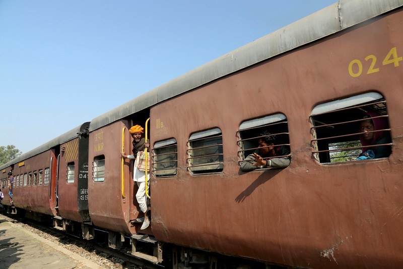 Rural train from Deogarh to Phulad, Rajasthan