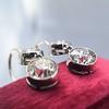 3.07ctw Double Old European Cut Dangle Earrings 11