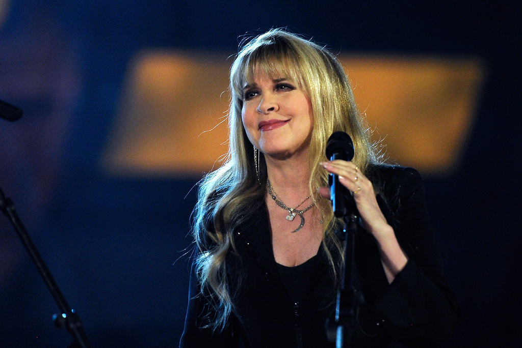 . Singer/songwriter Stevie Nicks performs onstage during the 49th Annual Academy Of Country Music Awards at the MGM Grand Garden Arena on April 6, 2014 in Las Vegas, Nevada.  (Photo by Ethan Miller/Getty Images)