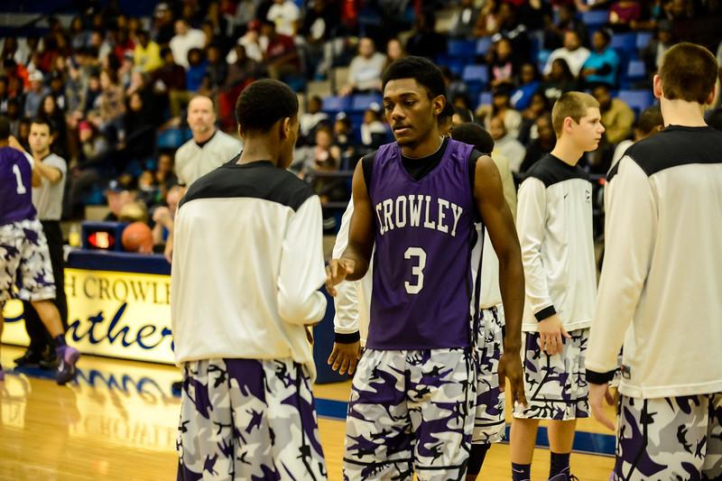Basketball Varsity Boys vs  Crowley 12-11-13-17
