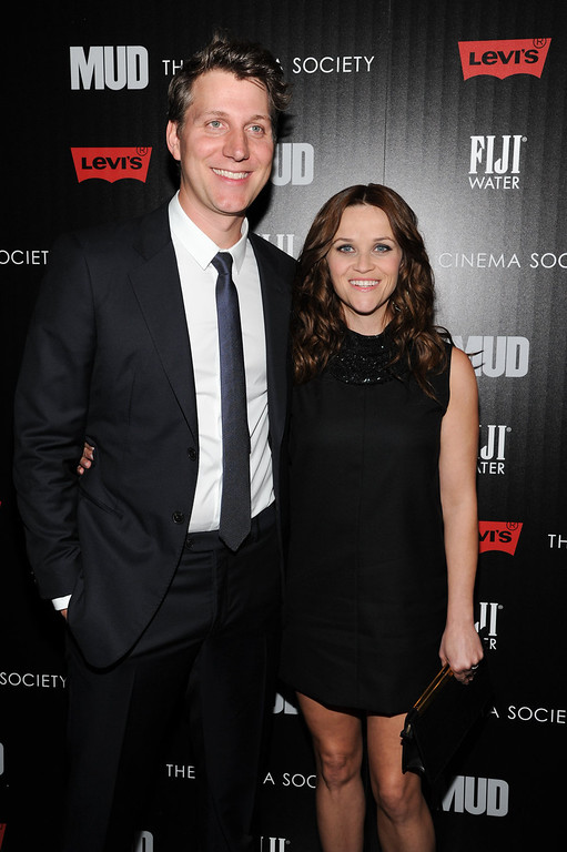 ". Actress Reese Witherspoon, right, and writer - director Jeff Nichols attend the premiere of ""Mud\"" hosted by The Cinema Society with FIJI Water & Levi\'s at the Museum of Modern Art on Monday April 21, 2013 in New York. (Photo by Evan Agostini/InvisionAP)"