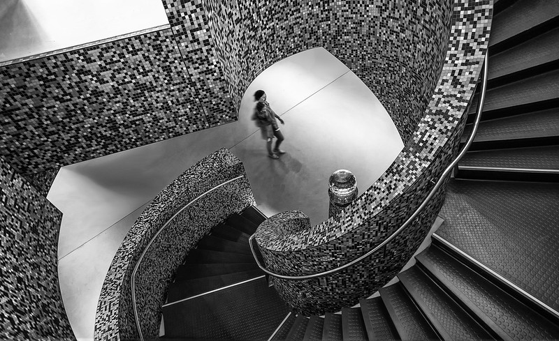 Stairway b&w