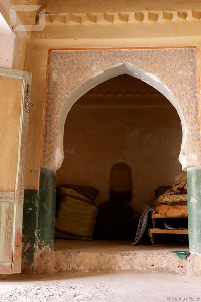 A l'intérieur d'une habitation dans Ksar Zenaga, Figuig