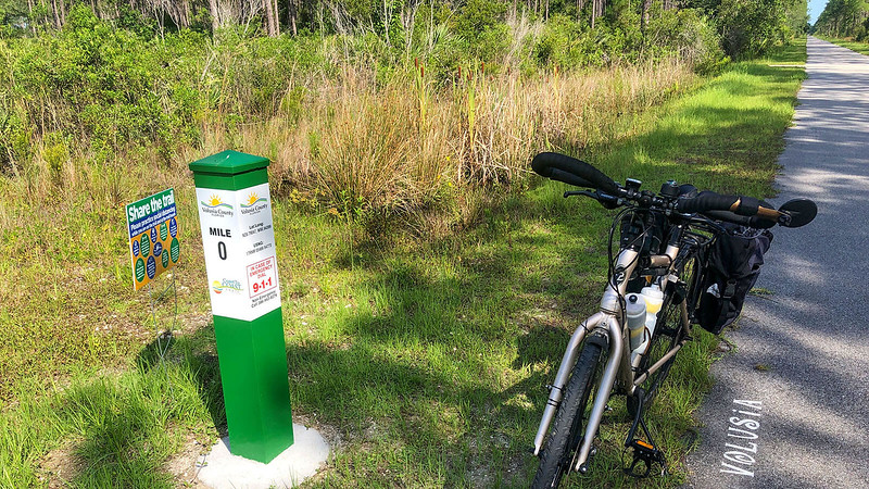 Volusia County Mile 0 Marker