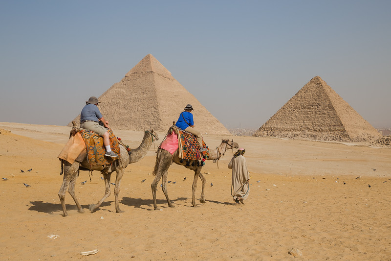 camel ride at the Pyramids of Giza in Egypt