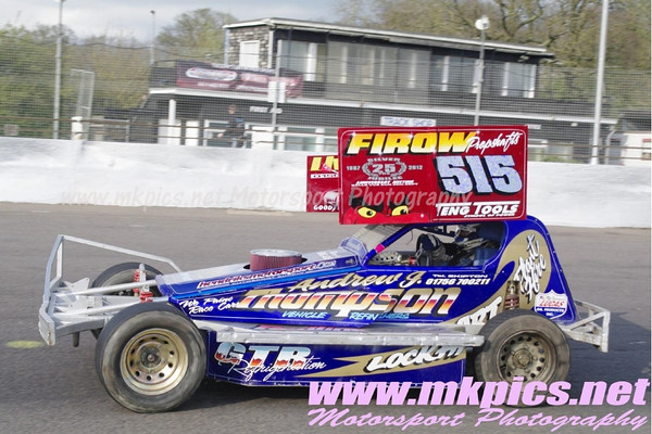 BriSCA F1 Stockcars, Northampton International Raceway, 14 April 2012