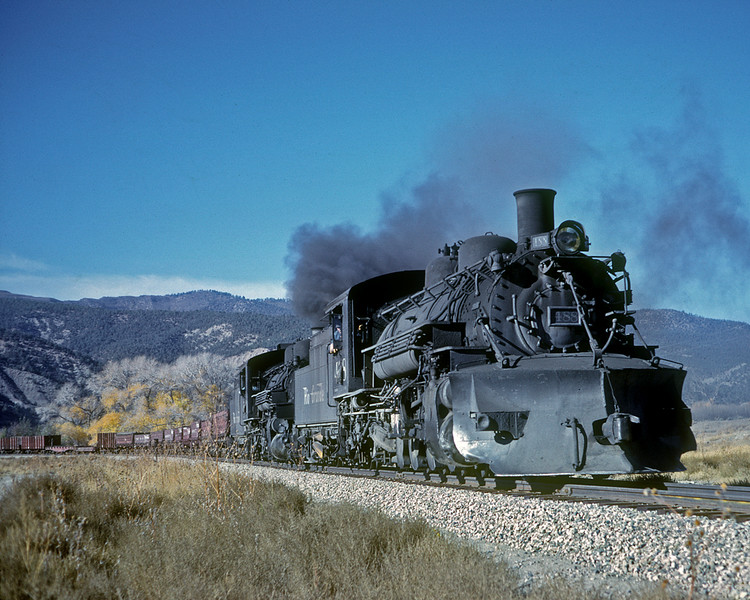 October 1962.  Eastbound on the relocation, just east of Arboles.