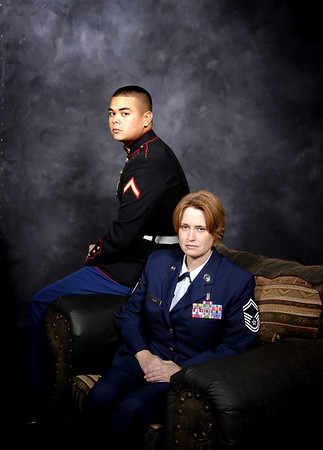 Air force Mom proud of her Marine Son