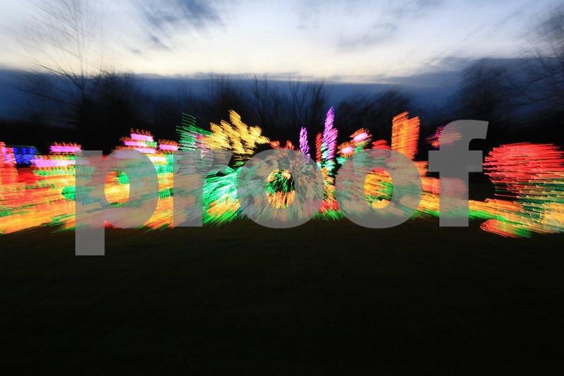 Bellevue Botanical Garden Christmas light display. Christmas lights,
