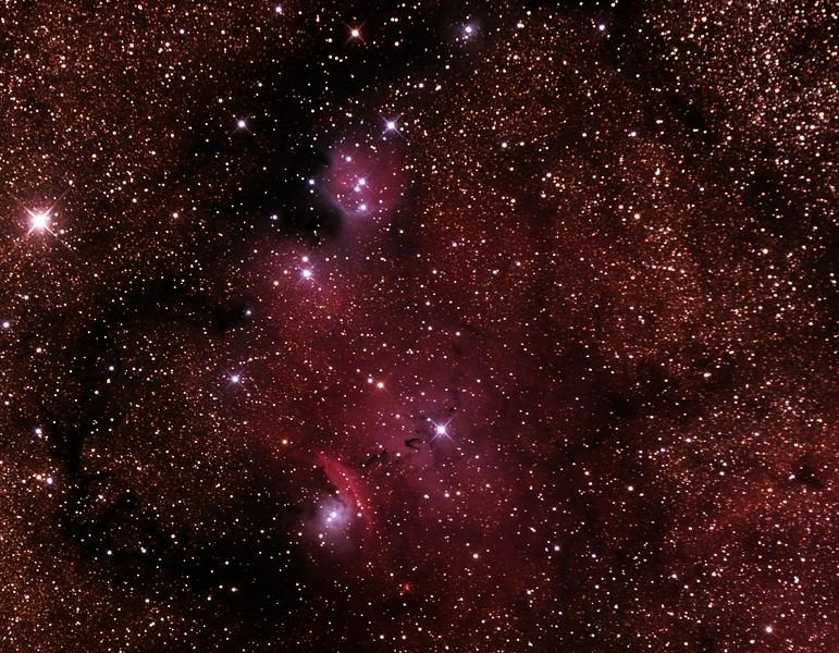 IC1274-5 Gum75 & NGC6429 Nebula with IC4685 Dark Nebula in Sagittarius - 24/9/2014 (Processed cropped stack)