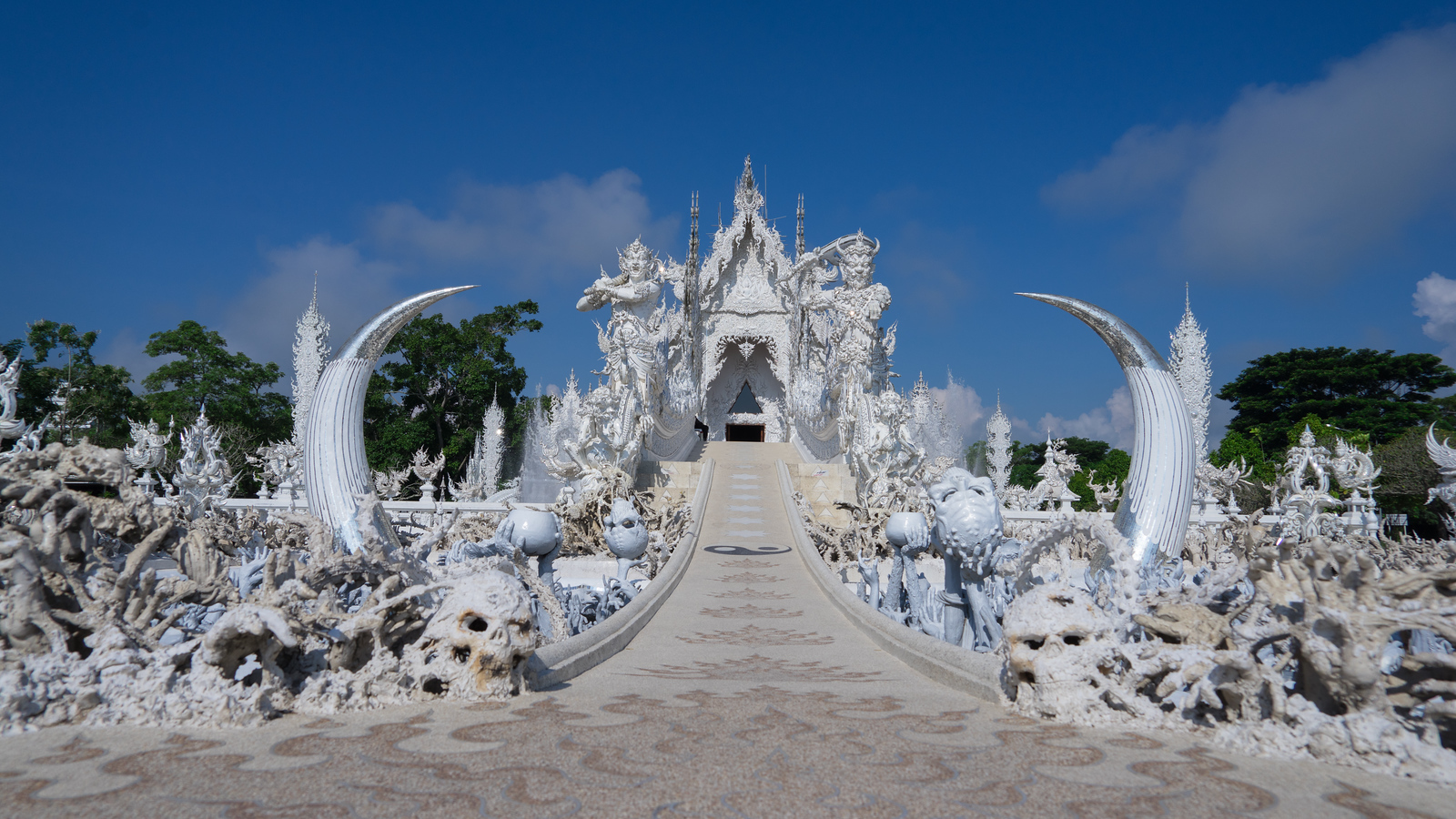 Wat Rong Khun or White Temple in Chiang Rai