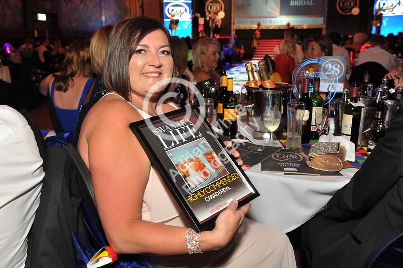 Swansea Life Awards 2017 Brangwyn Hall, Swansea Wedding Retailer Highly Commended...Cariad Bridal