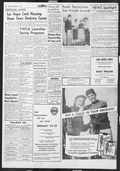 Daily Trojan, Vol. 46, No. 81, February 21, 1955
