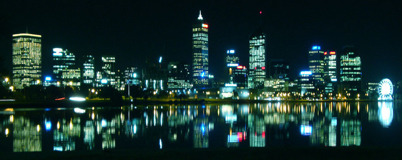 View of Perth from the South Perth foreshore.