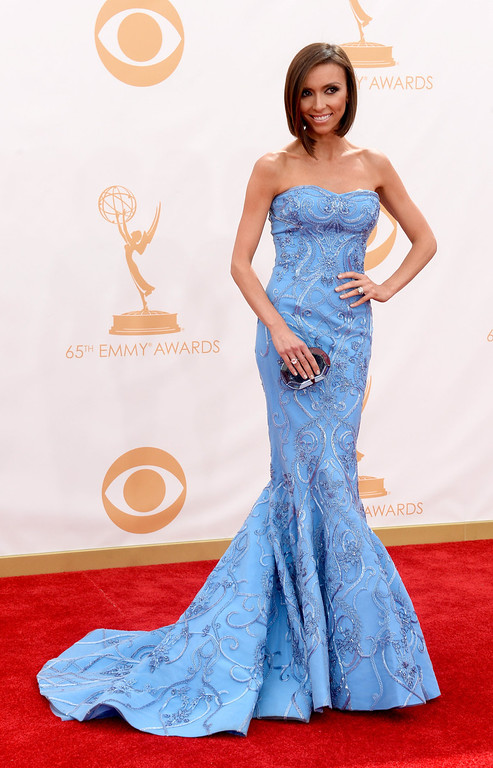 . TV personality Giuliana Rancic arrives at the 65th Annual Primetime Emmy Awards held at Nokia Theatre L.A. Live on September 22, 2013 in Los Angeles, California.  (Photo by Frazer Harrison/Getty Images)