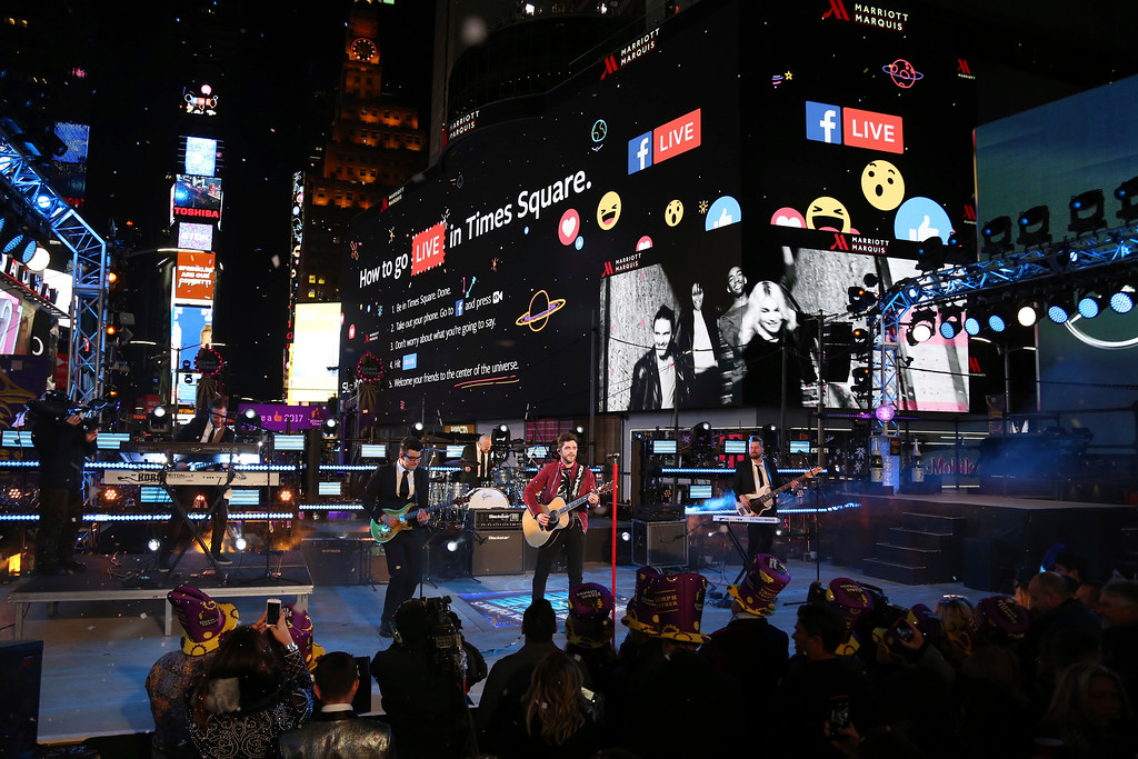 . Thomas Rhett performs at the New Year\'s Eve celebration in Times Square on Saturday, Dec. 31, 2016, in New York. (Photo by Greg Allen/Invision/AP)