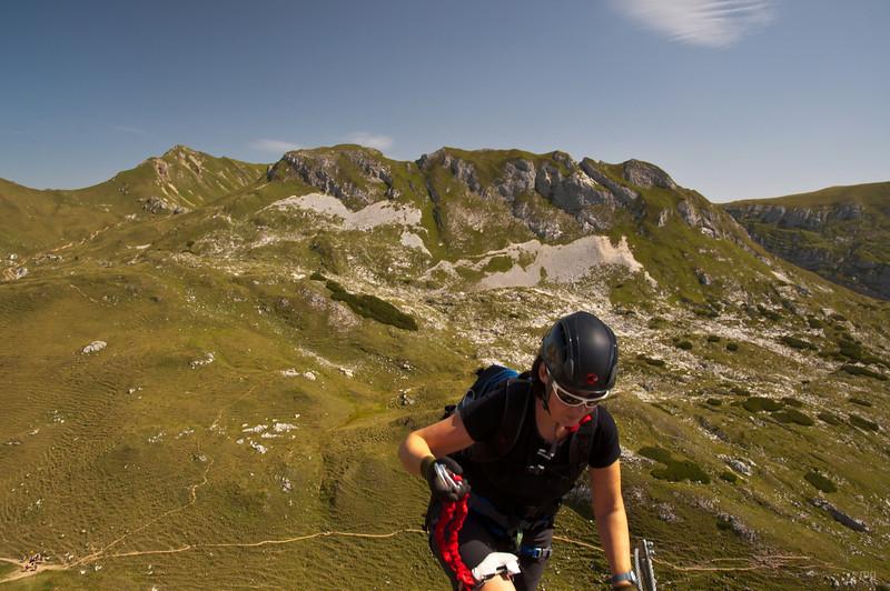 Im Haidachstellwand-Klettersteig