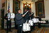 "On April 16, 2007, the White House Office of Faith-Based and Community Initiatives and USA Freedom Corps hosted a ""Compassion in Action Roundtable"" to discuss the promotion of service and civic engagement in the United States.  At a reception following in the Indian Treaty Room, the IDEA Public Charter School Military Academy Drumline performed."