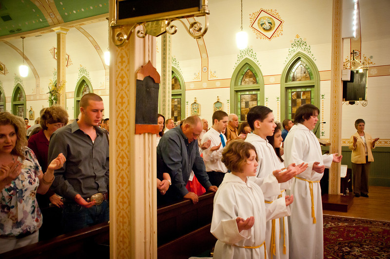 2013 Easter Vigil Mass and Reception At St. Mary in Plantersville