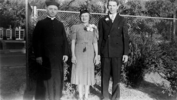 C.W. Monaghen and Anna Mae Lueb Wedding 1937