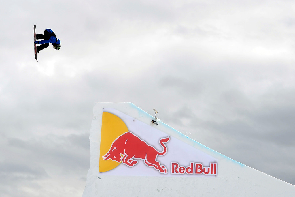 . ASPEN, CO - JANUARY 26: Aleksander Oestreng hits a jumpduring the men\'s snowboard slopestyle final. X Games Aspen Buettermilk Mountain Aspen January 26, 2013 (Photo By AAron Ontiveroz / The Denver Post)