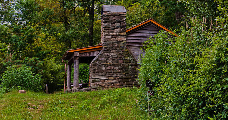 Pocosin Cabin on Appalachian Trail, Shenandoah National Park, Virginia