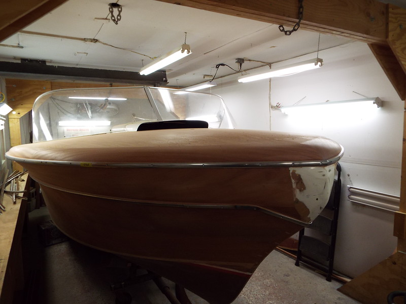 Starboard front with the stainless trim fit to the stand offs.