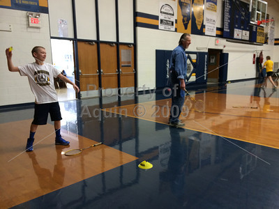 new student in badminton . 2.13.14