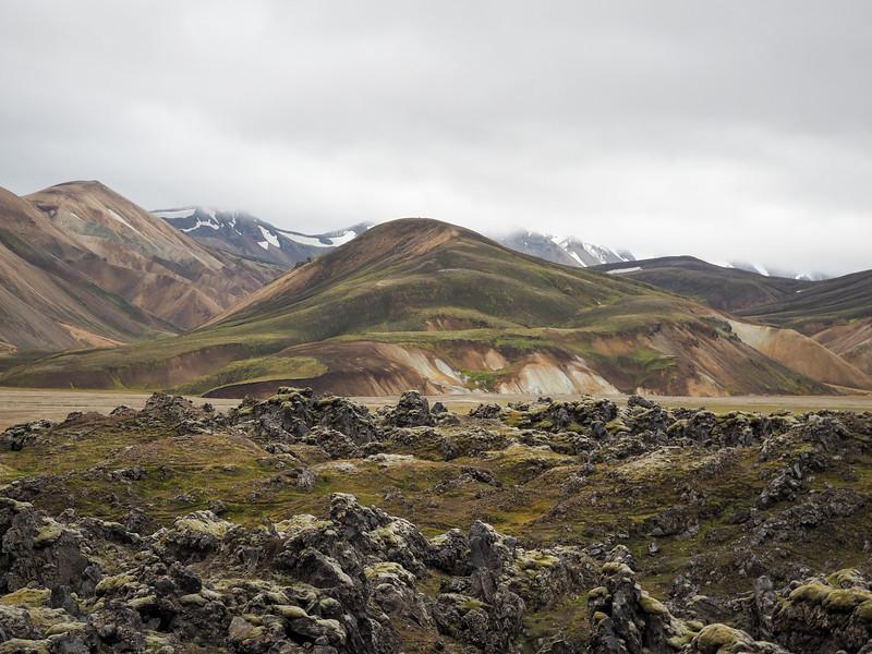 Rainbow mountains in Landmannalaugar