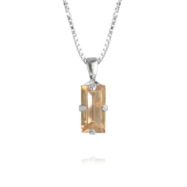 Baguette Necklace / Golden Shadow Rhodium