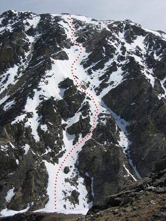 S. Arapahoe Peak (Vader Couloir) Skiing 6/22/2011