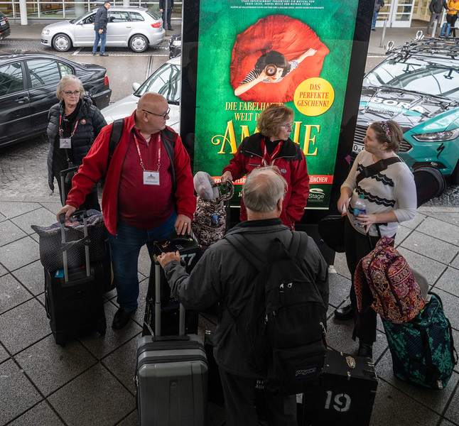 Gathering at the airport in Munich