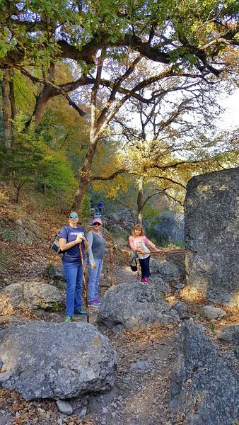 Deena, Nana, and Laney on the hike