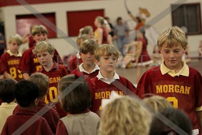 Morgan ter., pw, & JV. pep rally