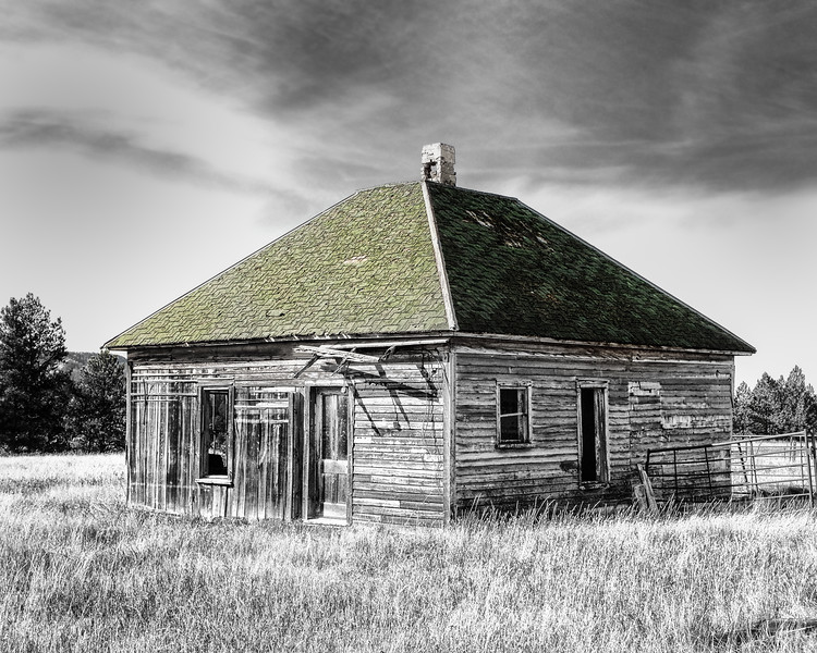 Old House With Green Roof