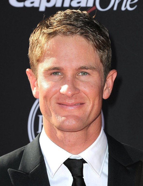 . IndyCar driver Ryan Hunter-Reay arrives at the ESPY Awards on Wednesday, July 17, 2013, at Nokia Theater in Los Angeles. (Photo by Jordan Strauss/Invision/AP)