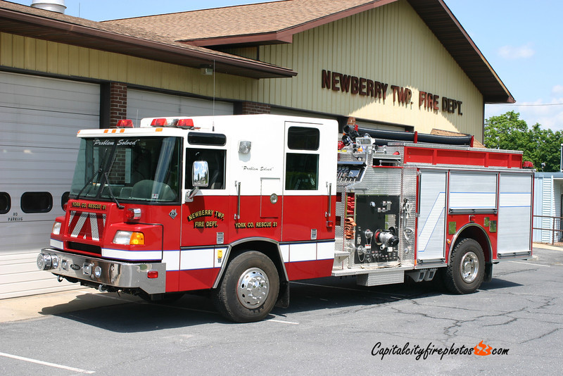 Newberry Twp Rescue 31: 1998 Pierce Quantum 1500/750/50 (X-Ft. Meyers Beach, FL)