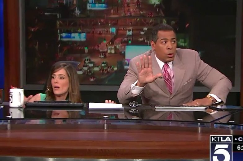 """. <p>2. LOS ANGELES <p>Hardly the Big One, but you wouldn�t know that watching the news team wet themselves. (unranked) <p><b><a href=\'http://www.latimes.com/local/lanow/la-me-ln-ktla-earthquake-anchor-20140317,0,3910407.story#axzz2wFVHmXUi\' target=\""""_blank\""""> HUH?</a></b> <p>   (Photo from YouTube)"""