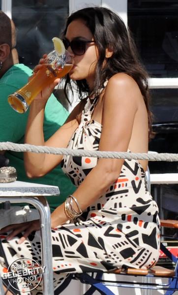 EXC: Rosario Dawson Has A Few German Beers Then Hit The Karaoke!