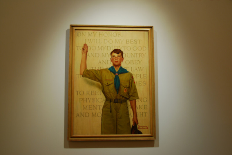 Norman Rockwell painting in the Boy Scouts of America Museum collection in Irving, Texas