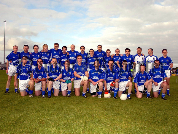 Cullaville Blues who played ST Killians Whitecross in the Intermediate Football Final in Crossmaglen on Sunday Evening. 07W35N251